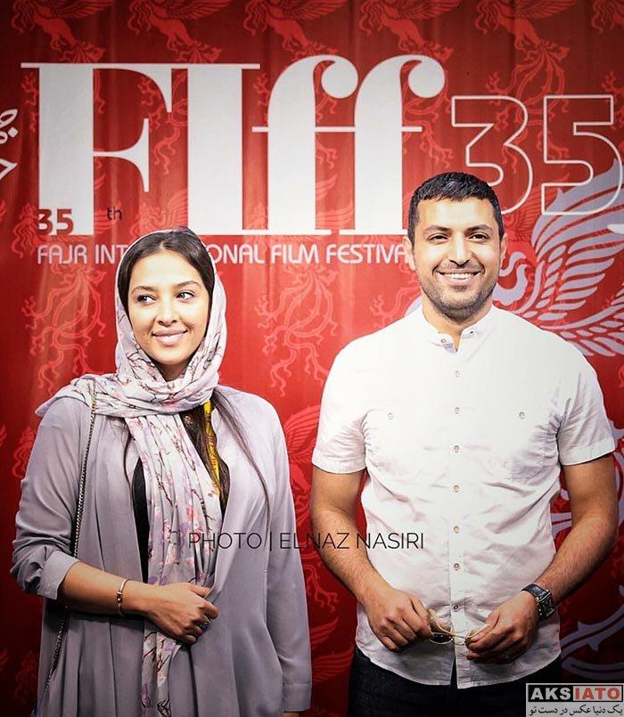 بازیگران بازیگران مرد ایرانی  اشکان خطیبی و همسرش در جشنواره جهانی فیلم فجر