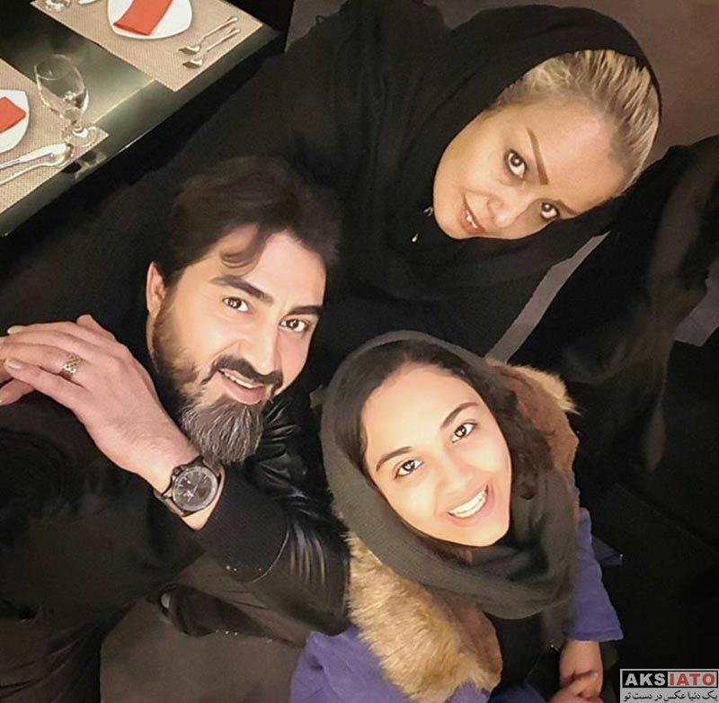 خانوادگی  محمدرضا علیمردانی در کنار همسر و دخترش