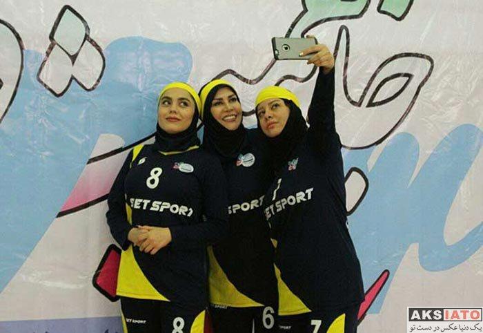 بازیگران بازیگران زن ایرانی  تصاویر مسابقه فوتبال بانوان هنرمندان و منتخب تهران