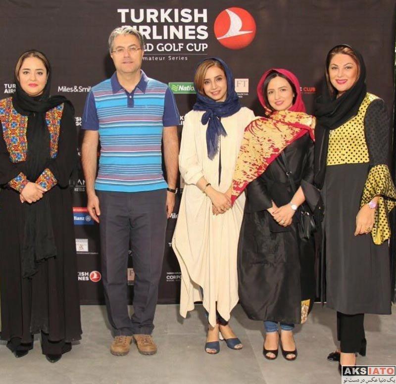 بازیگران بازیگران زن ایرانی  گلاره عباسی در مسابقات گلف ترکیش ایرلاین