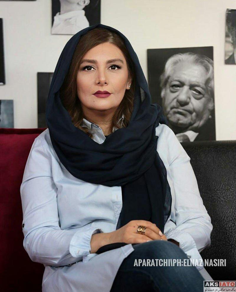بازیگران بازیگران زن ایرانی  هنگامه قاضیانی در برنامه آپاراتچی