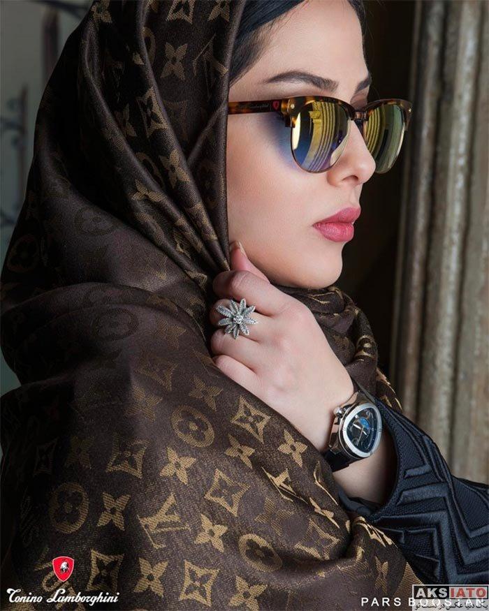 بازیگران زن ایرانی عکس آتلیه و استودیو  عکس های تبلیغاتی لیلا اوتادی برای برند لامبورگینی