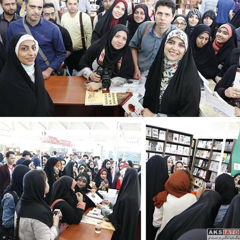 مجریان  مژده لواسانی در نمایشگاه کتاب تهران