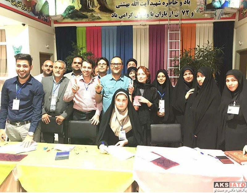 خانوادگی  نگار جواهریان و همسرش رامبد جوان در انتخابات