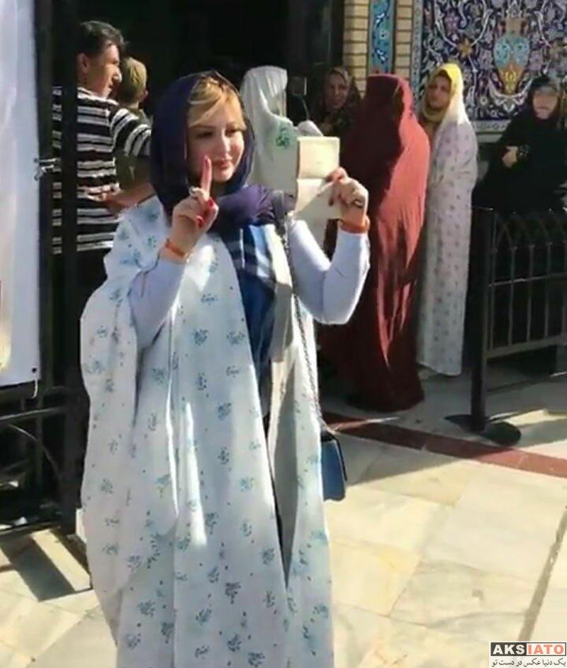 طلاق نیوشا ضیغمی از همسرش نیوشا ضیغمی و همسرش بعد از رای دادن - عکسیاتو | عکس بازیگران