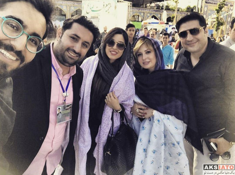 بازیگران بازیگران زن ایرانی  نیوشا ضیغمی و همسرش بعد از رای دادن