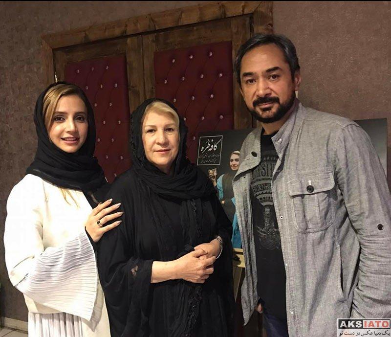 بازیگران بازیگران زن ایرانی  دیدار شبنم قلی خانی با مادرش قبل اجرای یک نمایش