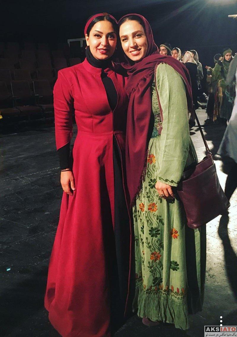 بازیگران بازیگران زن ایرانی  سوگل طهماسبی در پشت صحنه نمایش روز می بایست میمرد