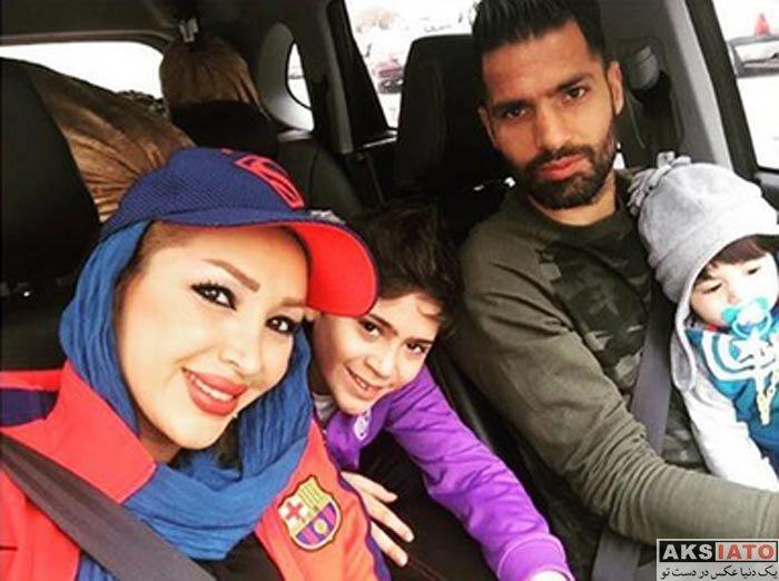 خانوادگی ورزشکاران ورزشکاران مرد  امیرحسین صادقی به همسر و فرزندانش