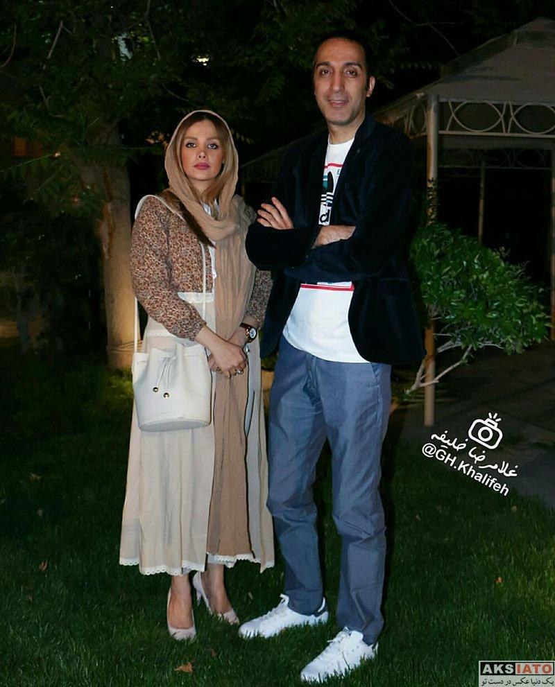 بازیگران بازیگران مرد ایرانی  امیرمهدی ژوله و همسرش در اکران فیلم «نهنگ عنبر ۲»