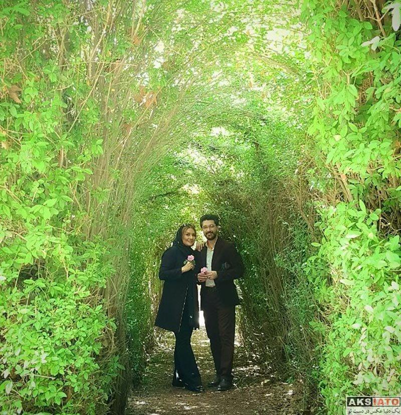 خانوادگی  امیرحسین مدرس و همسرش در نیشابور