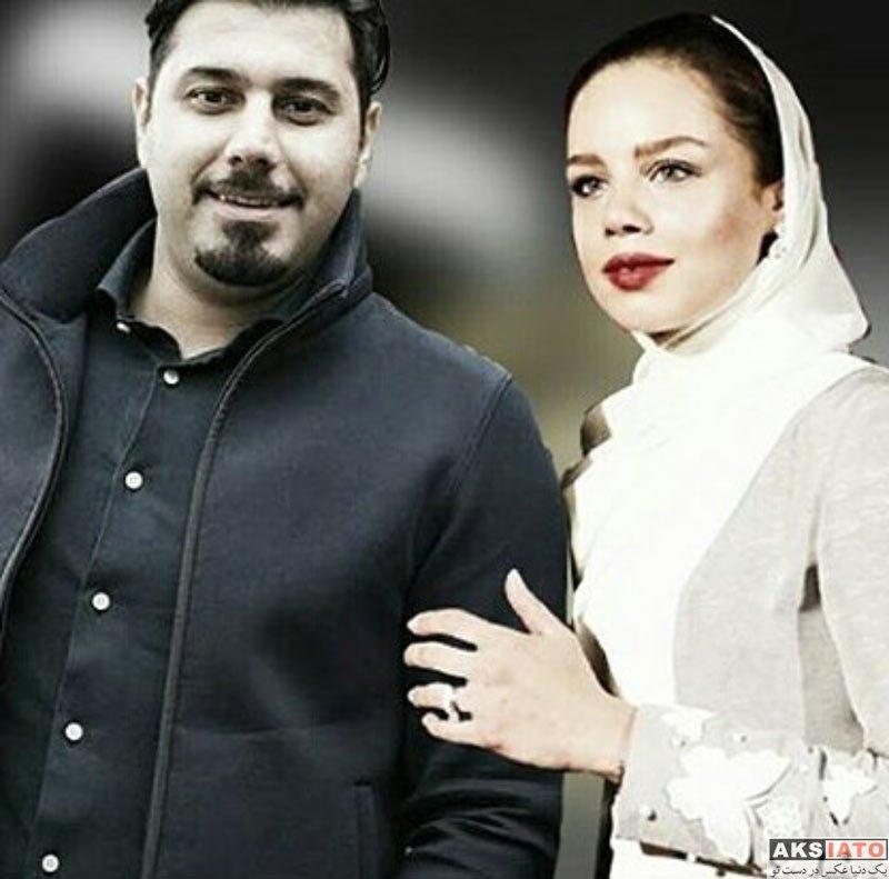 خوانندگان  تک عکس زیبای احسان خواجه امیری و همسرش