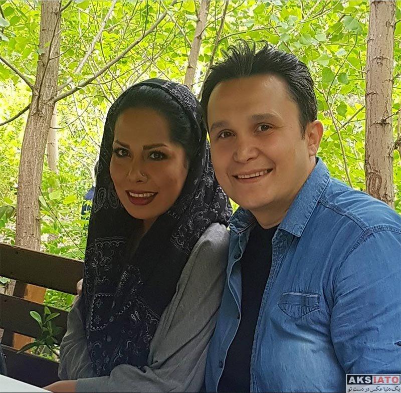 بازیگران مرد ایرانی خانوادگی  کیوان محمود نژاد و همسرش آیلین کیخایی