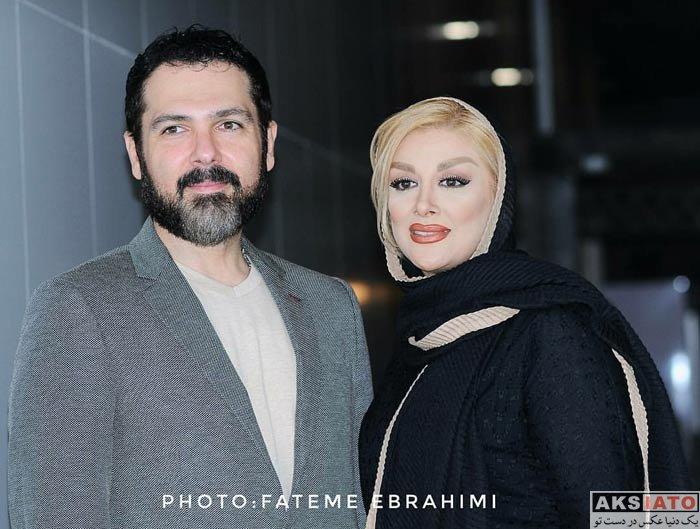 بازیگران بازیگران مرد ایرانی  کوروش تهامی و همسرش در اکران خصوصی فیلم «آشوب»