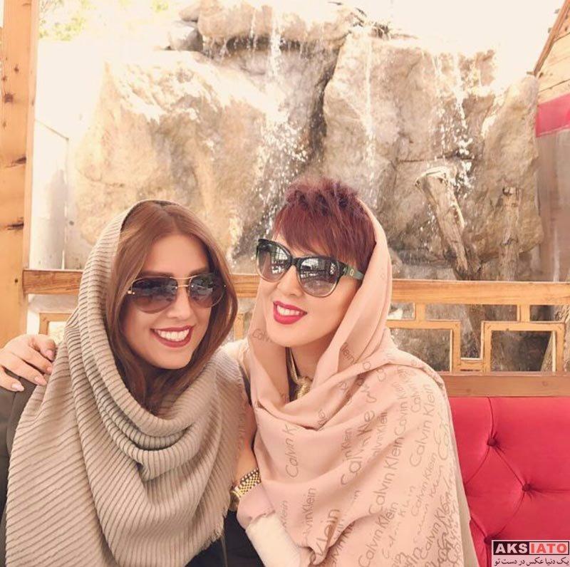 بازیگران بازیگران زن ایرانی  لیلا بلوکات در کنار دوستش با مدل موی جدید
