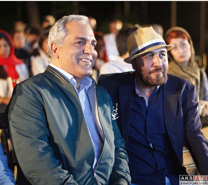 بازیگران بازیگران مرد ایرانی  مهران مدیری و رضا عطاران در اکران فیلم «نهنگ عنبر ۲»