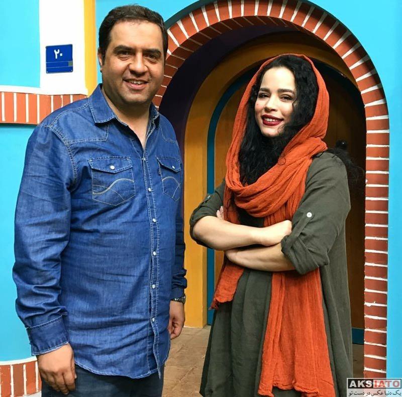 بازیگران بازیگران زن ایرانی  ملیکا شریفی نیا در کنار کارگردان معروف