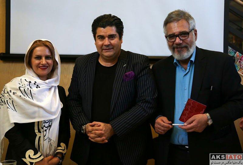 خوانندگان  سالار عقیلی و همسرش در مراسم رونمایی از آلبوم جدیدش