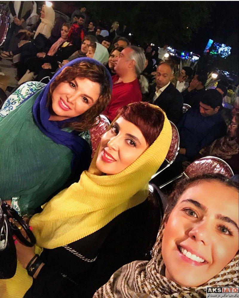 بازیگران بازیگران زن ایرانی  شهره سلطانی و لیلا بلوکت به همراه هنرمندان در گیلان