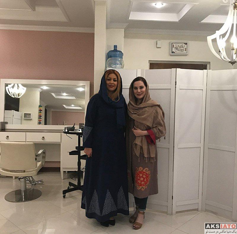 بازیگران بازیگران زن ایرانی  آرام جعفری در سالن آرایش و زیبایی موبى فرم