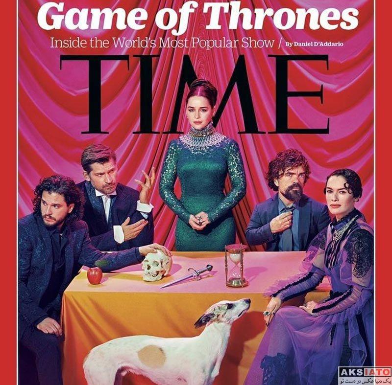 سریال های خارجی فیلم و نمایش  فتوشات های بازیگران سریال «بازى تاج و تخت» در مجله تایم