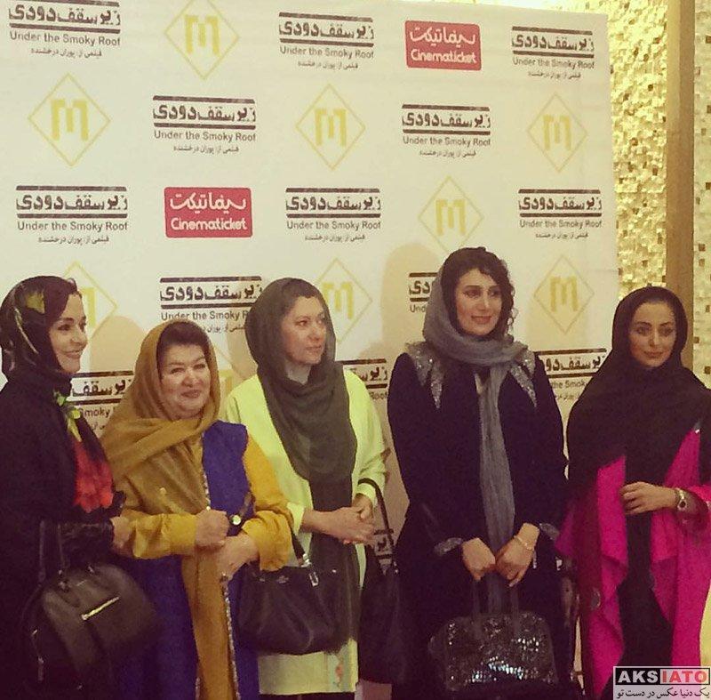 بازیگران بازیگران زن ایرانی  نفیسه روشن در اکران مردمی فیلم زیر سقف دودی