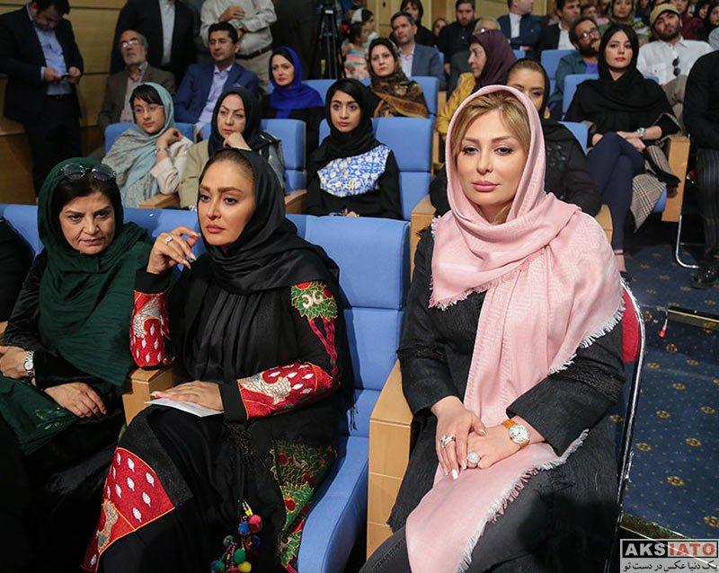 بازیگران بازیگران زن ایرانی  الهام حمیدی و نیوشا ضیغمی در ضیافت افطاری رئیس جمهور