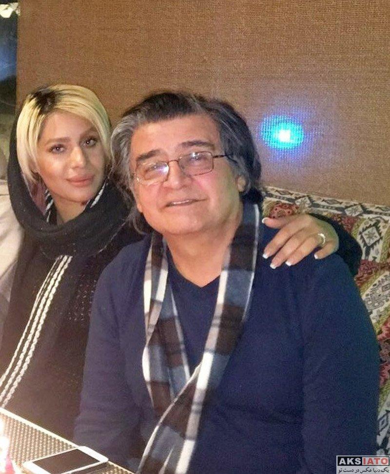 بازیگران مرد ایرانی خانوادگی  رضا رویگری و همسرش در روز تولدش