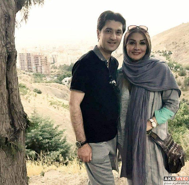 خانوادگی مجریان  امیرحسین مدرس و همسرش در خردادماه 96
