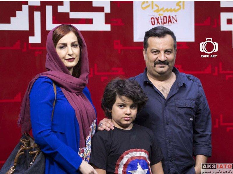 """خانوادگی  شقایق دهقان و شوهرش در اکران مردمی فیلم """"اکسیدان"""""""