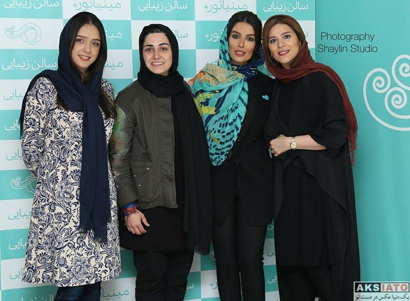 بازیگران بازیگران زن ایرانی  باران کوثری در افتتاحیه سالن زیبایی مینیاتور پلاس