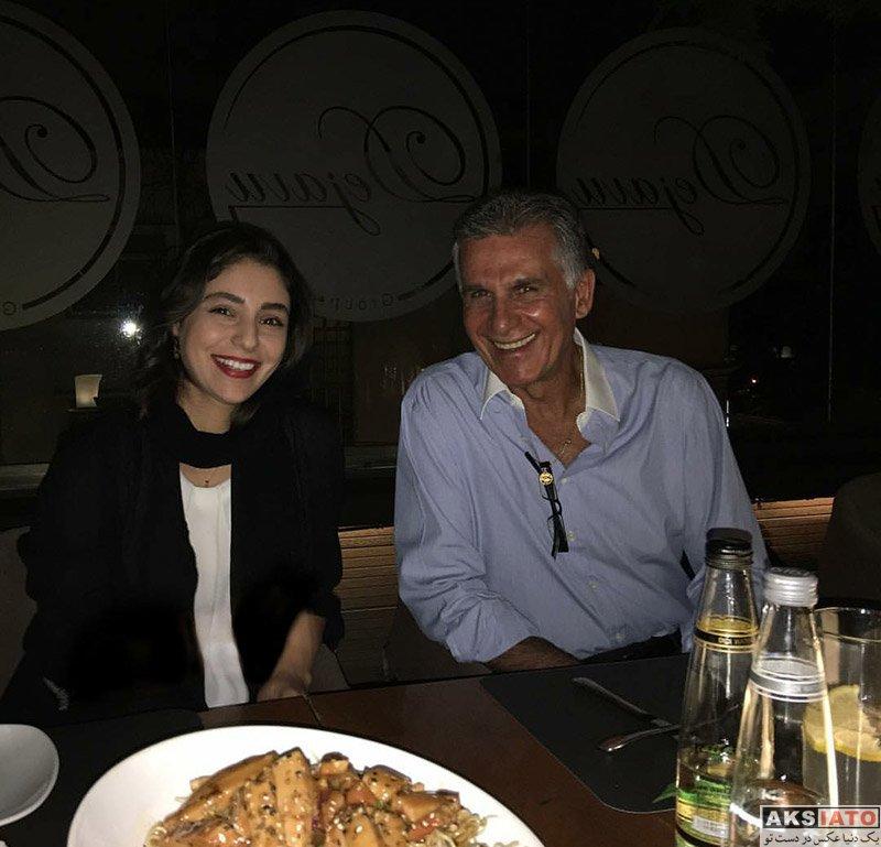 بازیگران بازیگران زن ایرانی  هستی مهدوی فر در کنار کارلوس کیروش در یک رستوران
