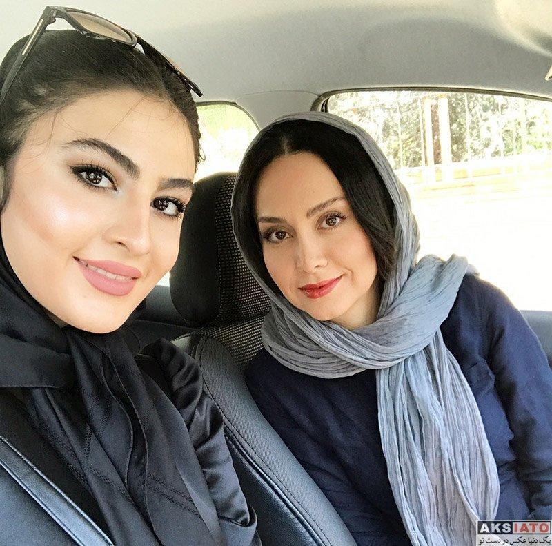 بازیگران بازیگران زن ایرانی  سلفی های مریم خدارحمی با دوست صمیمی اش