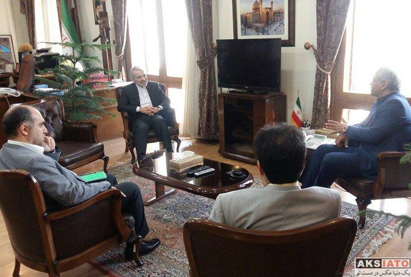 بازیگران بازیگران مرد ایرانی  دیدار صمیمانه مهران مدیری با معاون رئیس جمهور (3 عکس)