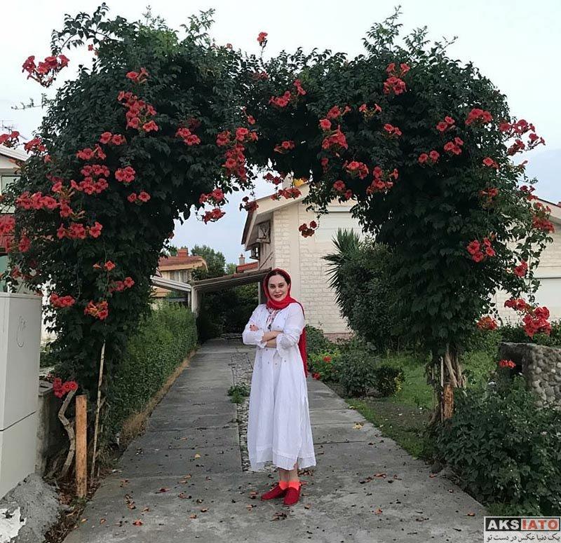 بازیگران بازیگران زن ایرانی  آرام جعفری در شمال کشور در تیرماه 96