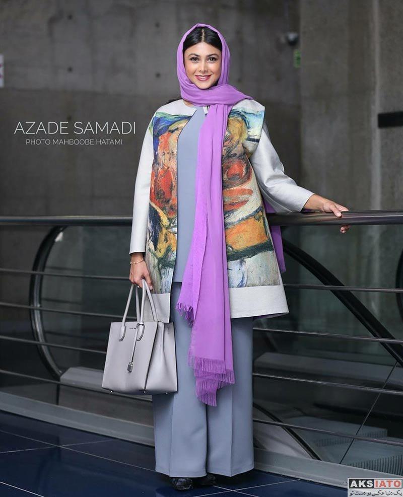 بازیگران بازیگران زن ایرانی  آزاده صمدی در اکران مردمی فیلم ساعت 5 عصر (4 عکس)