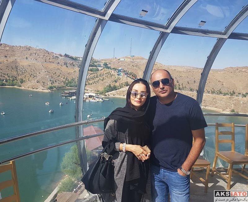 خانوادگی  حدیث فولادوند و همسرش رامبد شکرآبی در مشهد (2 عکس)
