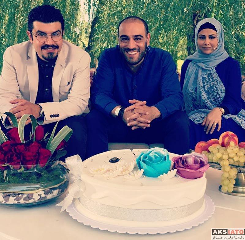 خانوادگی  عکس های یاسمینا باهر و همسرش در برنامه زنده رود