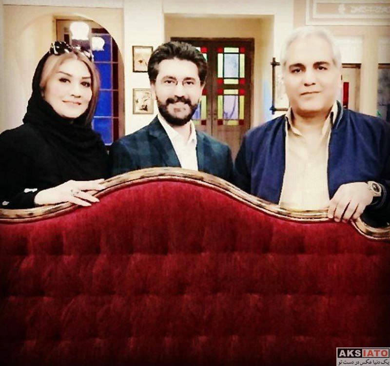 خانوادگی  امیرحسین مدرس و همسر دومش در پشت صحنه برنامه دورهمی