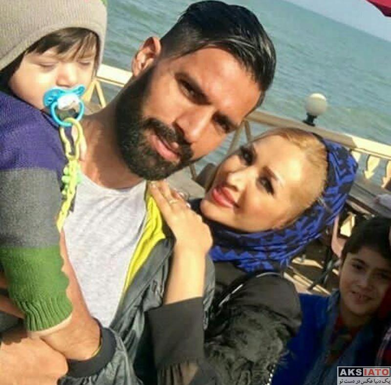 خانوادگی  امیرحسین صادقی به همراه و فرزندانش در شمال