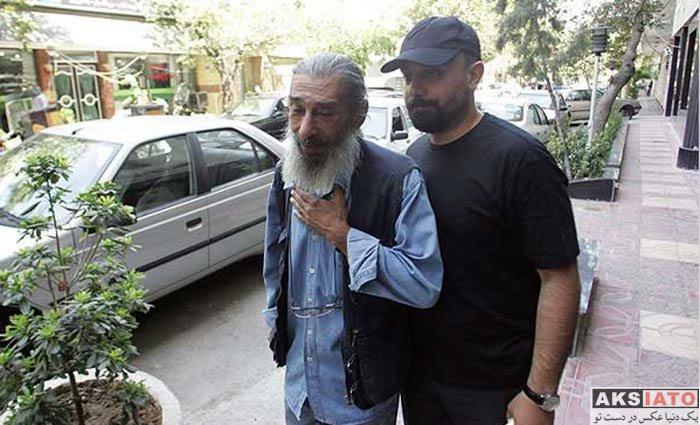 بازیگران مرد ایرانی فوت مشاهیر  تصاویر مراسم تشییع پیکر خسرو شکیبایی در سال 87