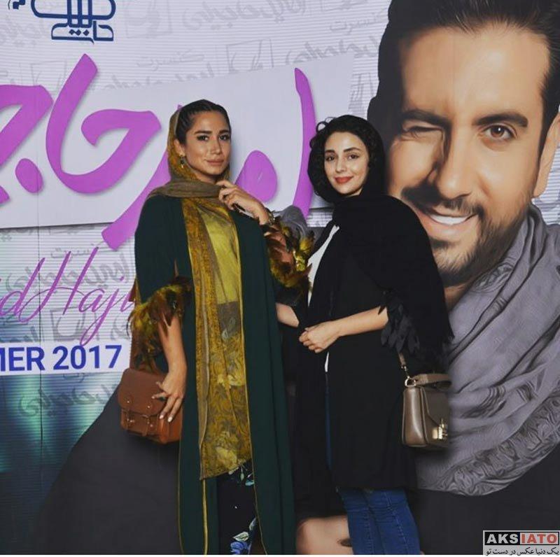 بازیگران بازیگران زن ایرانی  هستی مهدوی فر در کنسرت امید حاجیلی