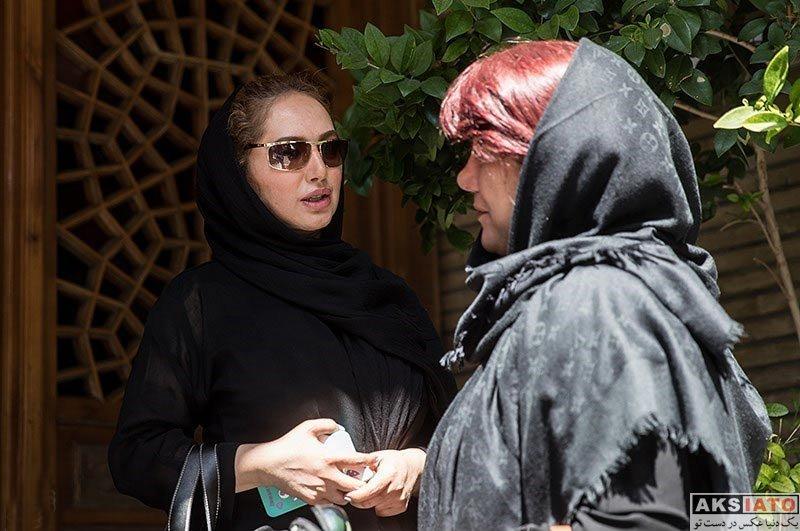 بازیگران بازیگران زن ایرانی  صبا کمالی در مراسم ترحیم زندهیاد کاسهساز