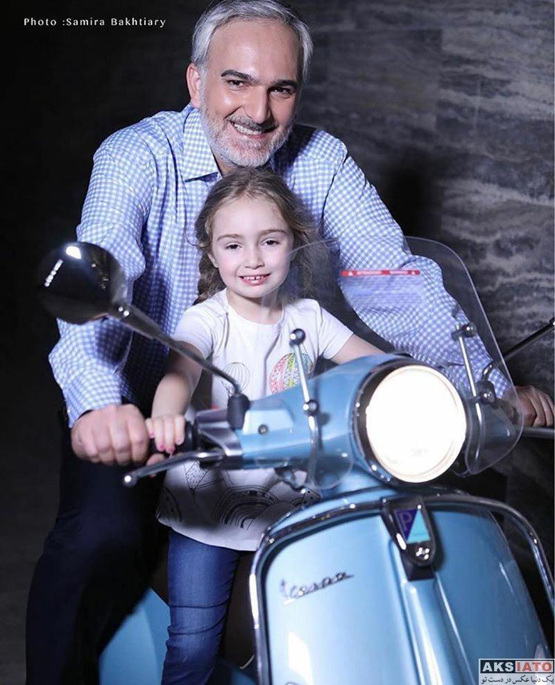 خانوادگی  بیژن بنفشه خواه و دخترش یاسمین در مردادماه 96