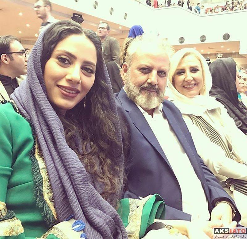 جشن حافظ خانوادگی  مونا فرجاد و پدرش در هفدهمین جشن حافظ (2 عکس)