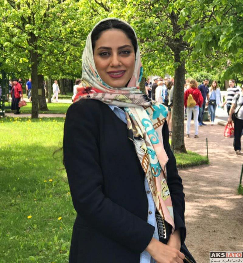 بازیگران بازیگران زن ایرانی  عکس های مونا فرجاد در مردادماه ۹۶ (۶ تصویر)