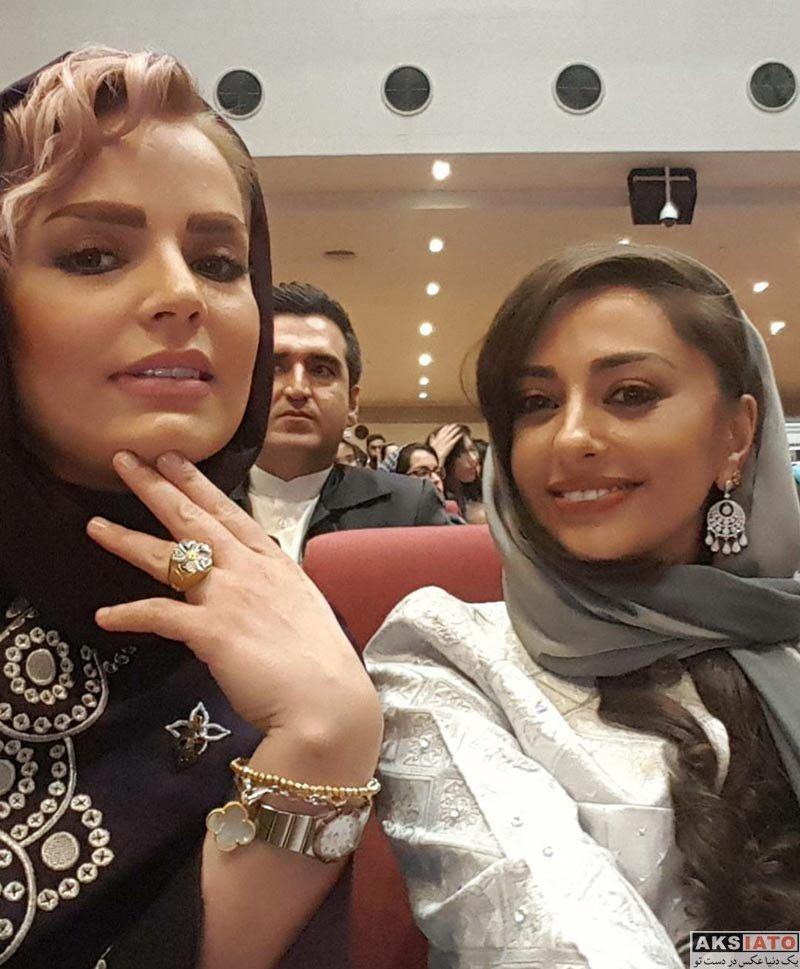 بازیگران بازیگران زن ایرانی  نفیسه روشن در هفدهمین جشن حافظ (4 عکس)