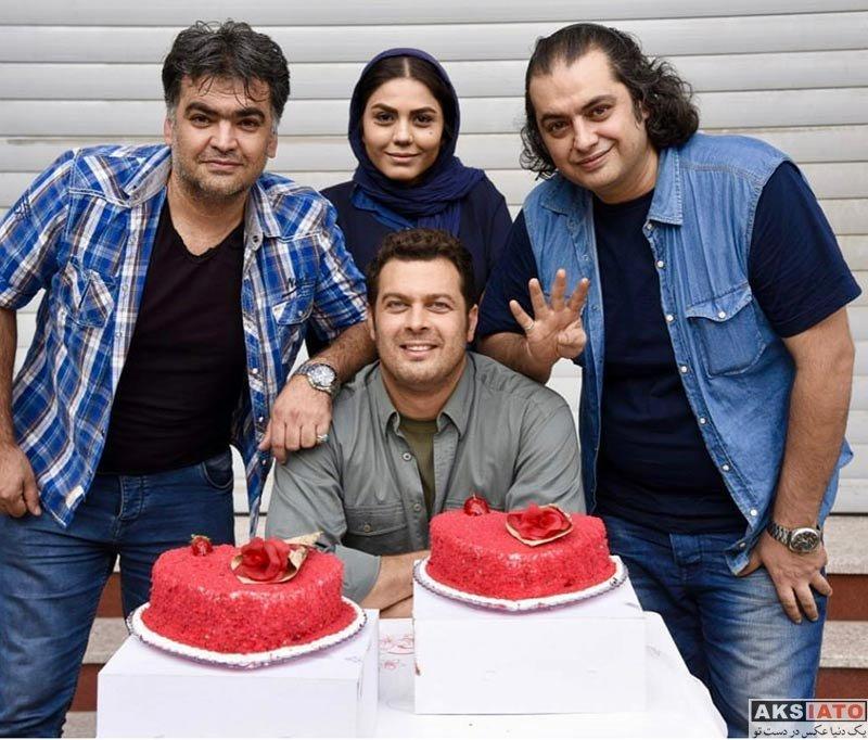 بازیگران بازیگران مرد ایرانی جشن تولد ها  جشن تولد پژمان بازغی با حضور خانم بازیگر (3 عکس)
