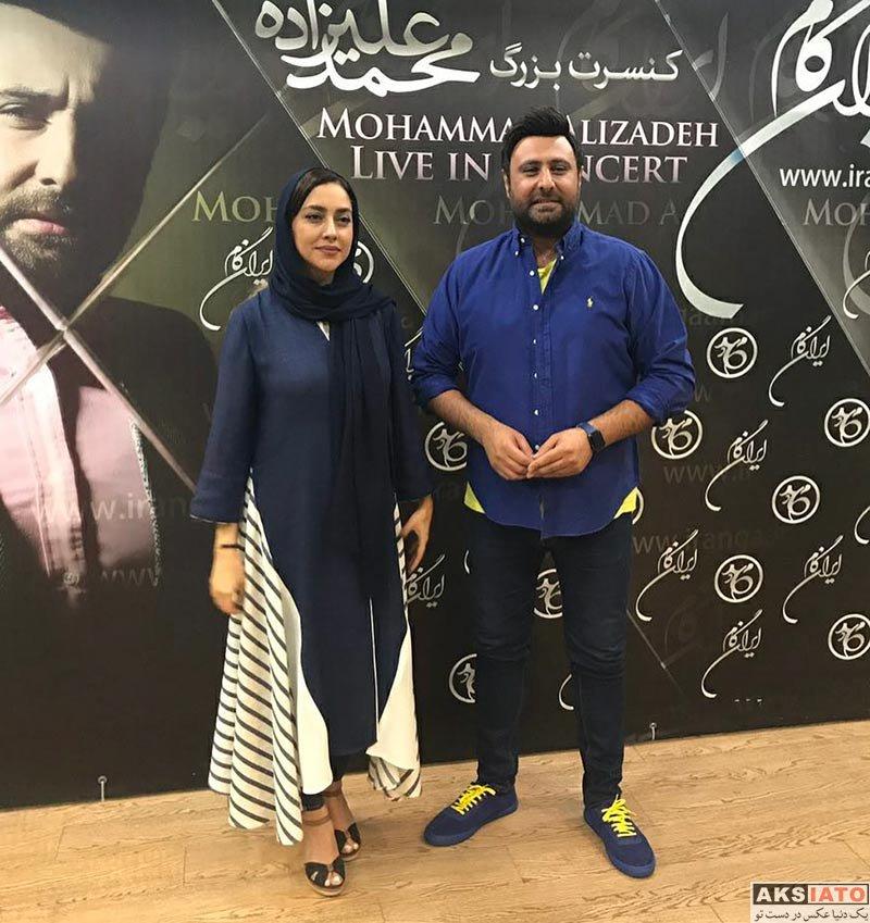 بازیگران بازیگران زن ایرانی  بهاره کیان افشار در کنسرت محمد علیزاده (3 عکس)
