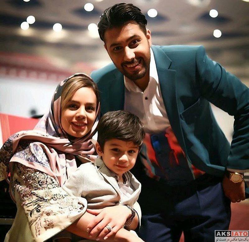 خانوادگی  احسان خواجه امیری به همراه همسرش در سالن کنسرت